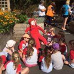Community Garden Scarecrow making